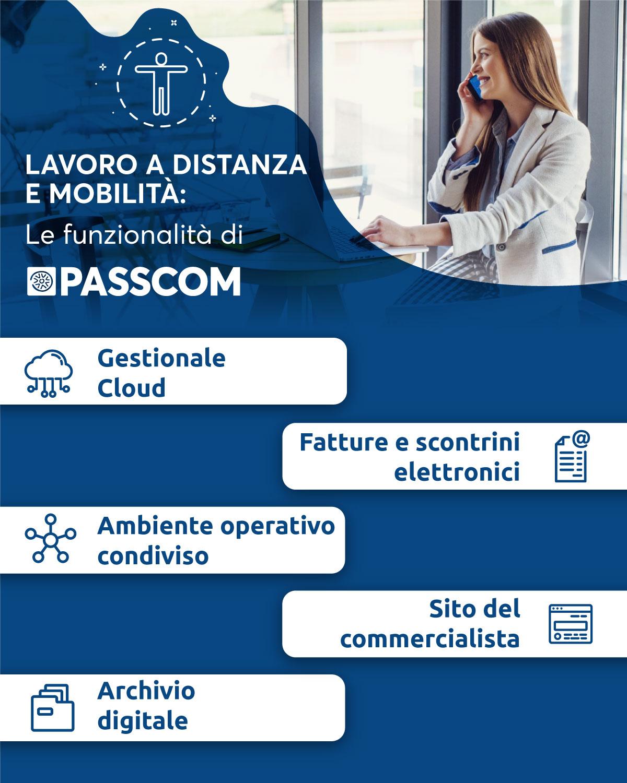 infografica lavoro a distanza e mobilità Passcom