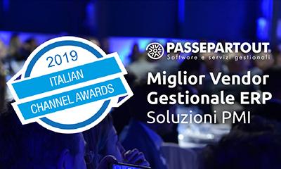 PASSEPARTOUT VINCE L' ITALIAN CHANNEL AWARDS