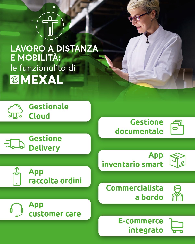 Lavoro a distanza e mobilità: le funzionalità di Mexal