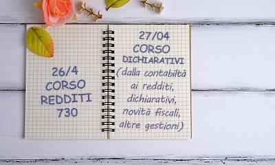 CORSI REDDITI 730 E AGGIORNAMENTO DICHIARATIVI