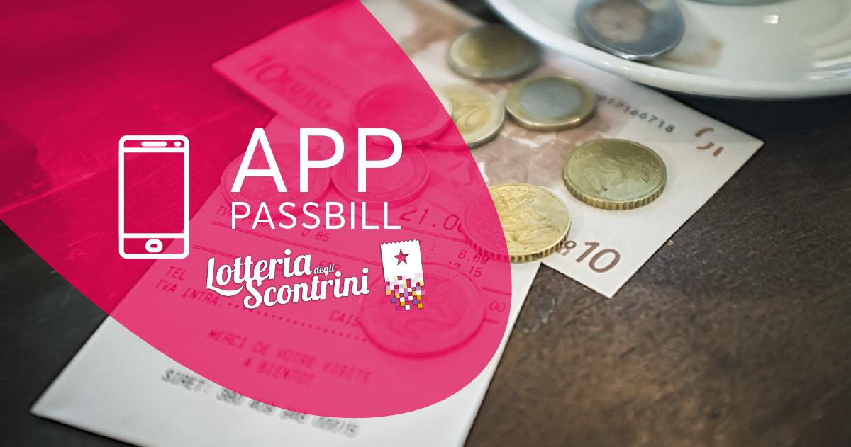 App PassBill con il supporto lotteria degli scontrini