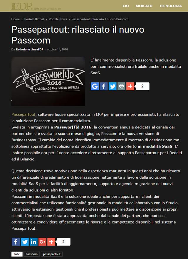 PASSEPARTOUT RILASCIATO IL NUOVO PASSCOM