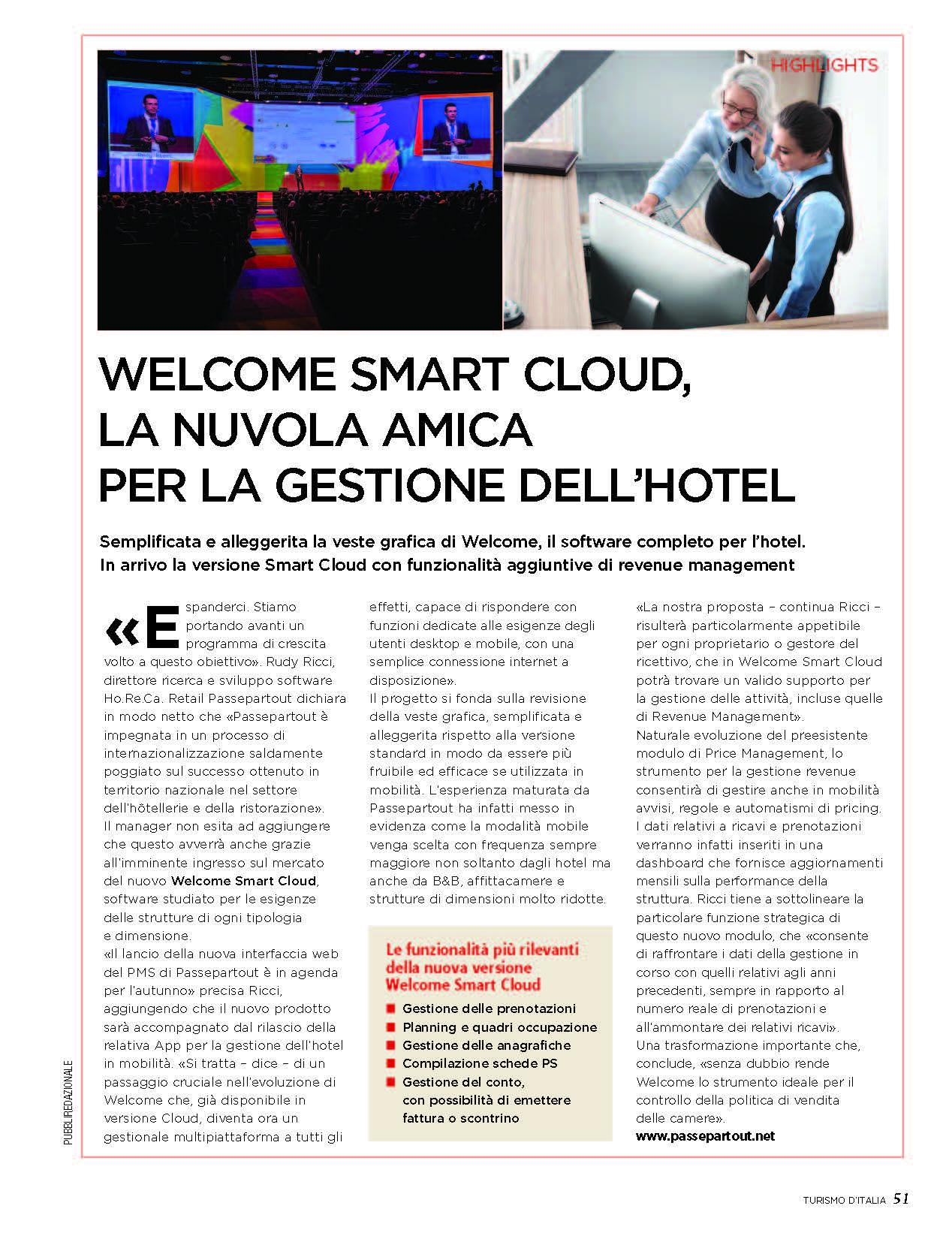 TURISMO D'ITALIA - WELCOME SMART CLOUD